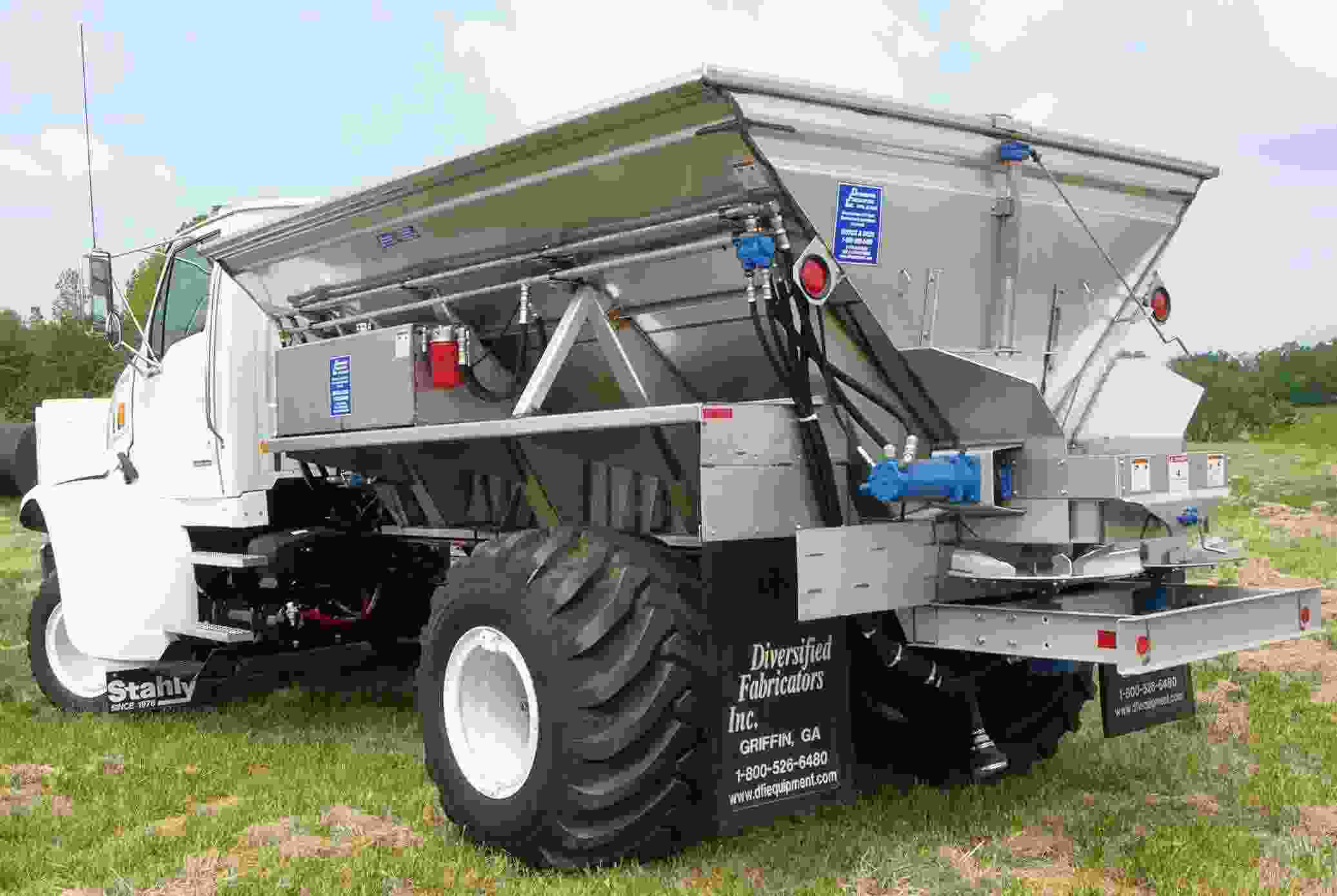 12'Stainless Steel Hopper Fertilizer Spreader Truck Mounted