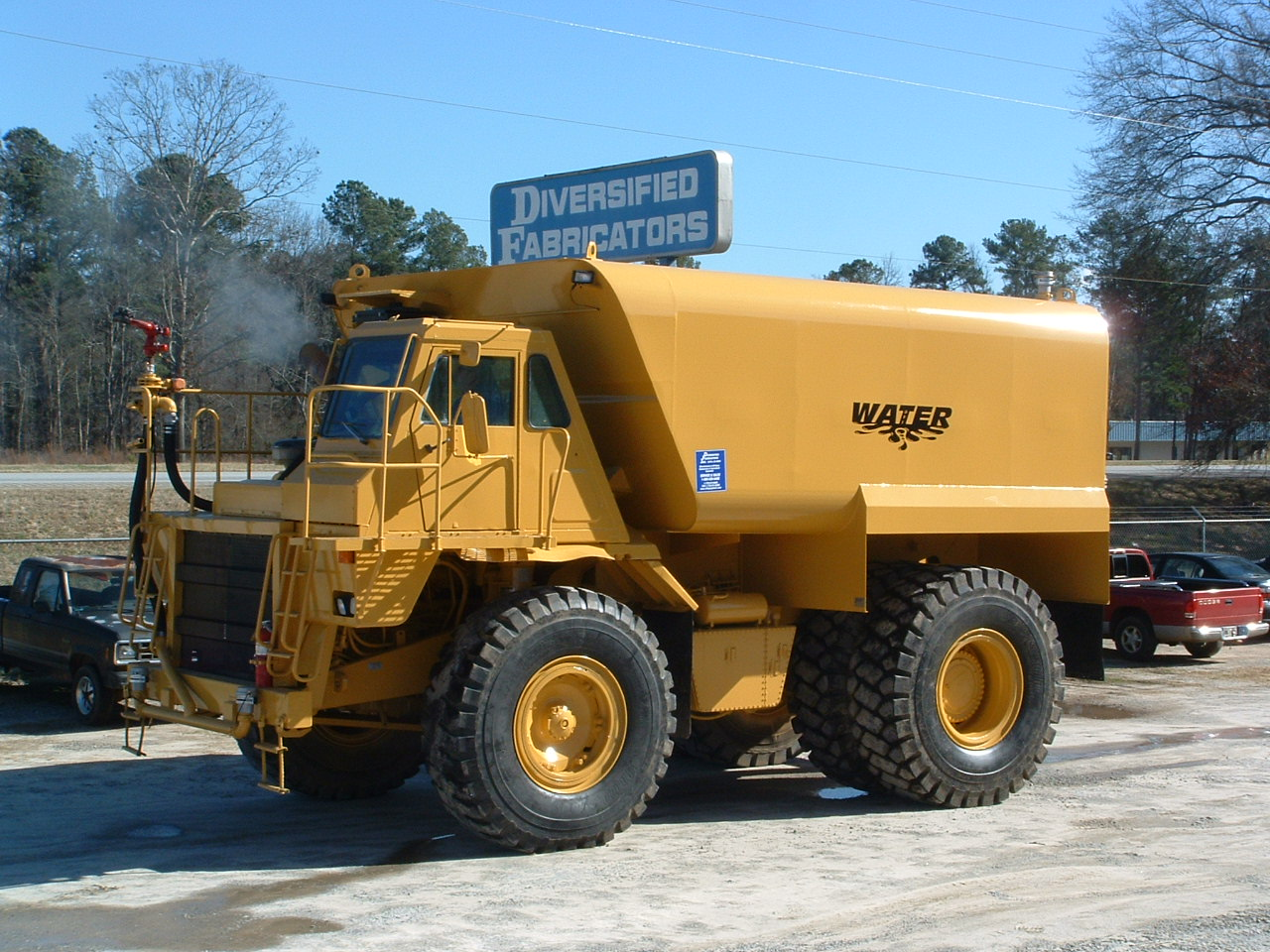 DFI 12000 gallon tanker package designed for ridged frame off road trucks